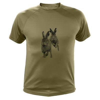cadeau anniversaire chasseur, t-shirt lapins