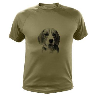 idée cadeau anniversaire chassuer, t-shirt beagle