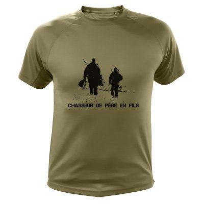 idée cadeau de Noêl pour chasseur, tee-shirt kaki