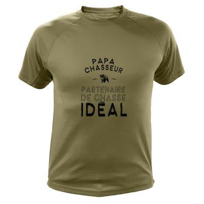 Cadeau Noël pour chasseur, t-shirt kaki