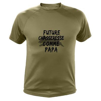 Cadeau Noël pour chasseur, t-shirt enfant futur chasseur