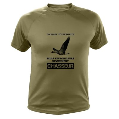 idée cadeau Noêl pour chasseur, tee-shirt migrateur oie cendree
