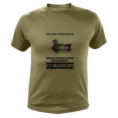 Cadeau Noël pour chasseur, t-shirt canard siffleur
