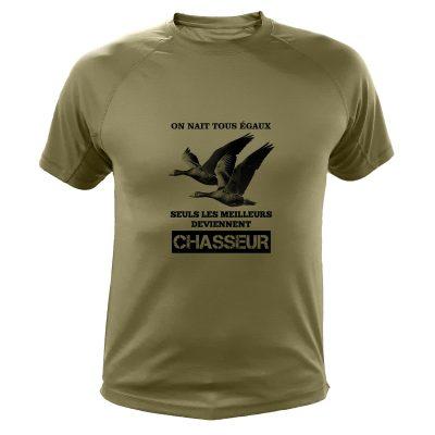 t-shirt de chasse, cadeau anniversaire, oies cendrees