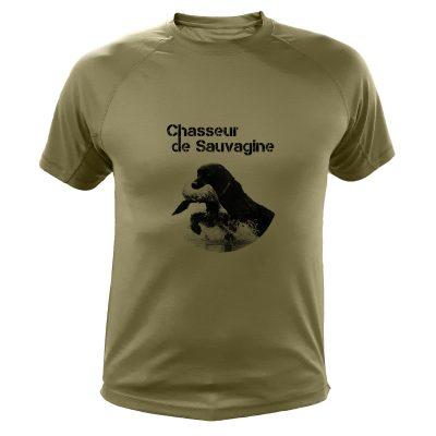 idée cadeau Noêl pour chasseur, tee-shirt sauvagine