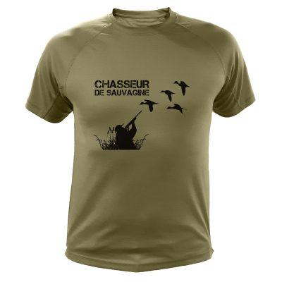 t-shirt de chasse, cadeau anniversaire, sauvaginier