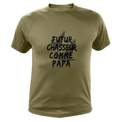 idée cadeau Noêl pour chasseur, tee-shirt futur chasseur