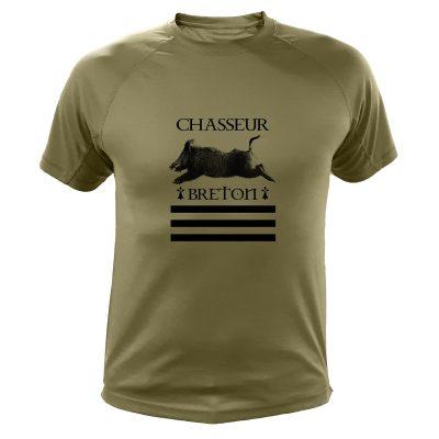 idée cadeau Noêl pour chasseur, tee-shirt sanglier gwenn ha du