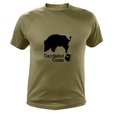 idée cadeau Noêl pour chasseur, tee-shirt sanglier pour corse