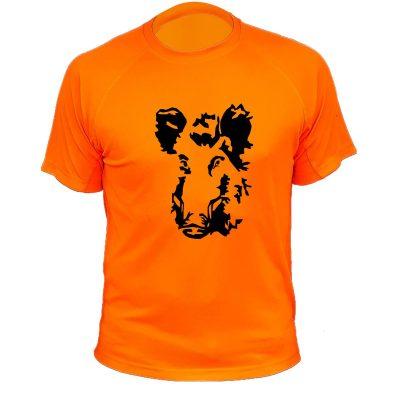 cadeau pour papa chasseur, tee-shirt orange fluo sanglier