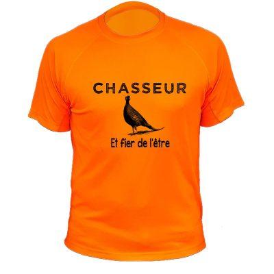 cadeau de Noël pour un chasseur, tee-shirt orange fluo original