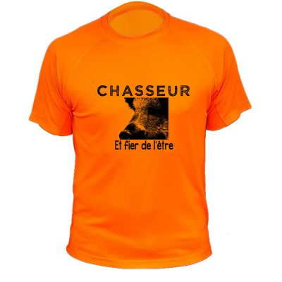 tee-shirt chasse humoristique chasseur et fière de l'être