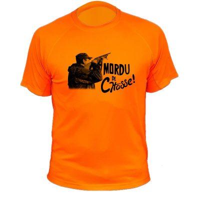 cadeau anniversaire pour chasseur, tee-shirt orange fluo