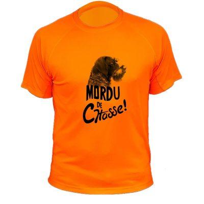 cadeau anniversaire homme chasseur, t-shirt orange fluo