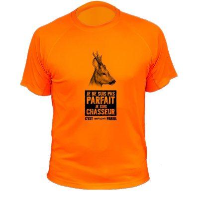 cadeau d'anniversaire pour un chasseur, t-shirt humour chevreuil