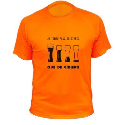 idée cadeau original pour un chasseur, t-shirt orange fluo