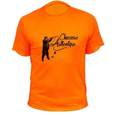 cadeau de Noël, tee-shirt de chasse orange fluo
