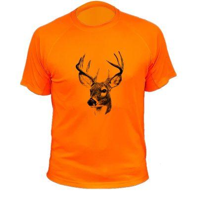 habit de chasse, cadeau original orange fluo, cerf