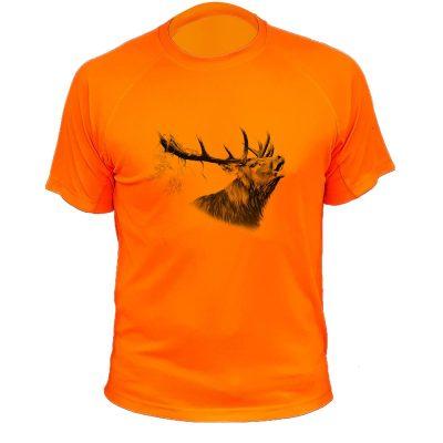 t-shirt de chasse, cadeau original, orange fluo