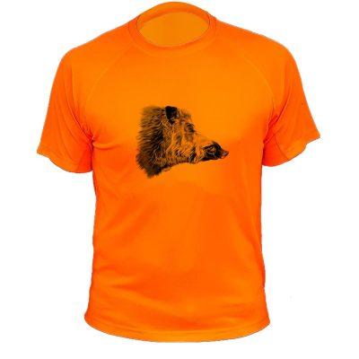 tee-shirt fête des pères, cadeau pour chasseur orange fluo