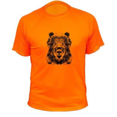 cadeau anniversaire chasseur, t-shirt orange fluo