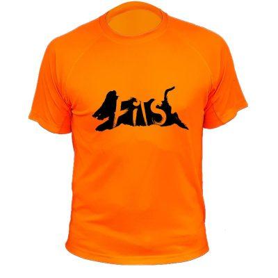t-shirt de chasse sanglier orange fluo