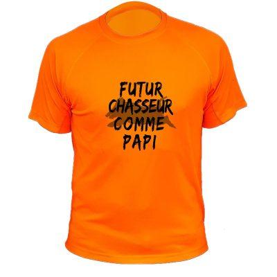 vetement chasse, cadeau enfant, orange fluo