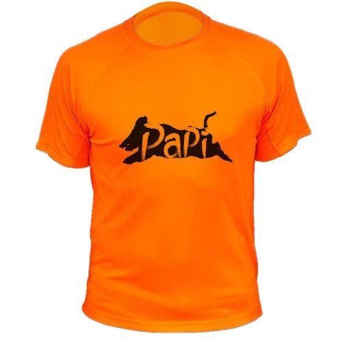 t-shirt de chasse, cadeau anniversaire,orange fluo, grand pere
