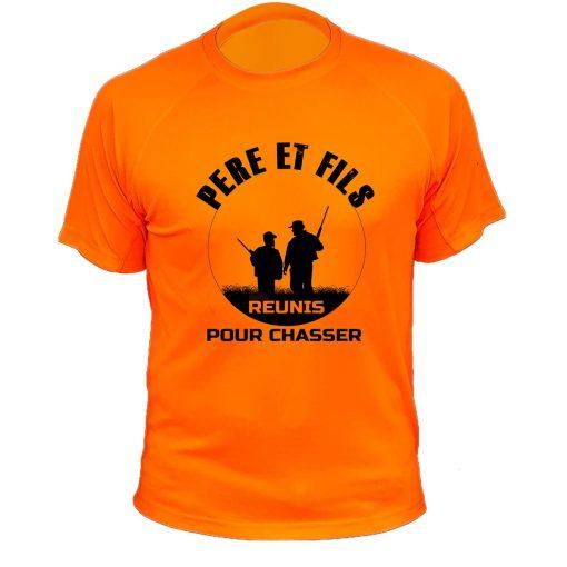 Cadeau Noël pour chasseur, t-shirt orange fluo