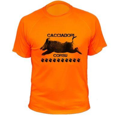 cadeau original, t-shirt humoristique orange fluo sanglier