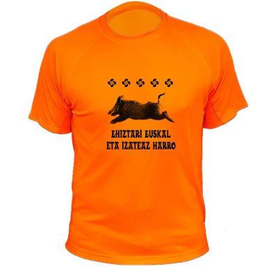 t-shirt chasseur basque orange fluo