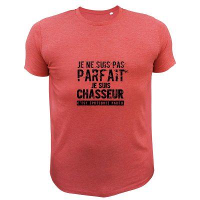 vêtement de chasse humoristique, t-shirt rouge