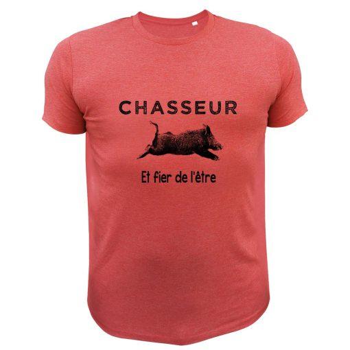 cadeau fête des pères pour un chasseur, t-shirt humoristique avec sanglier