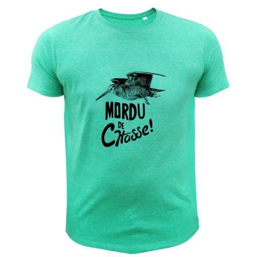 boutique de chasse, t-shirt original vert, becassier