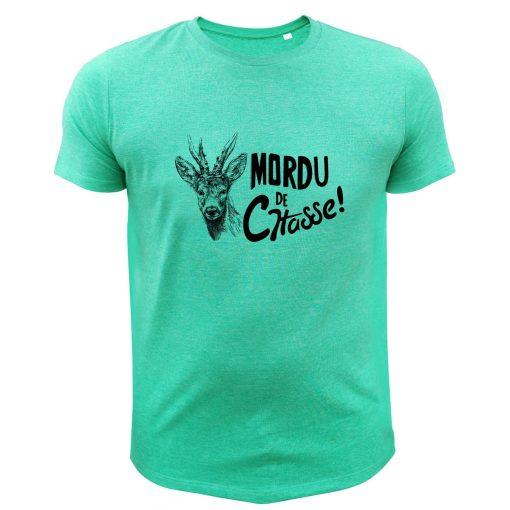 vêtement de chasse humoristique, t-shirt vert, chevreuil