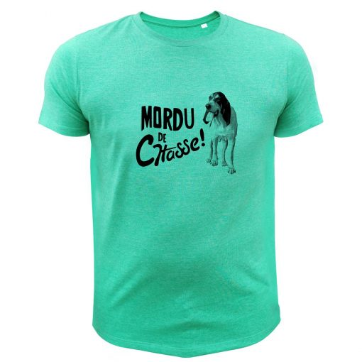 idée cadeau pour chasseur, tee-shirt vert, gascon saintongeoins