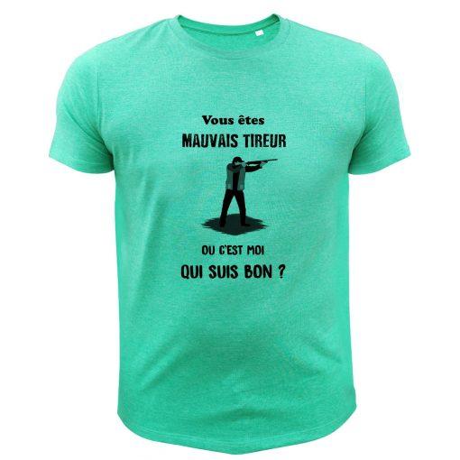 idée cadeau original pour un chasseur, t-shirt vert