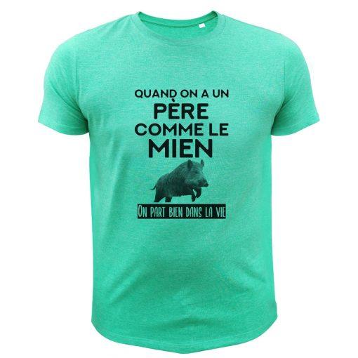 idée cadeau anniversaire chassuer, t-shirt humour, sanglier