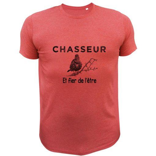 t-shirt de chasse grive chasseur et fier de l'être