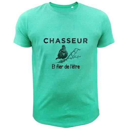 t-shirt de chasse grive chasseur et fer de l'être