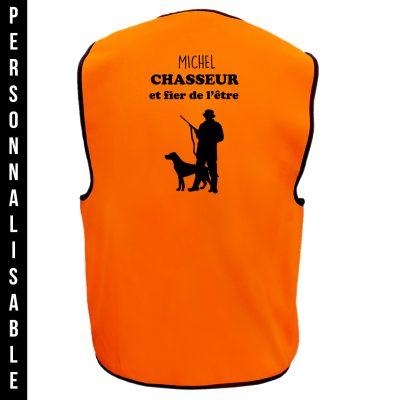 gilet-chasse-orange-personnalisable