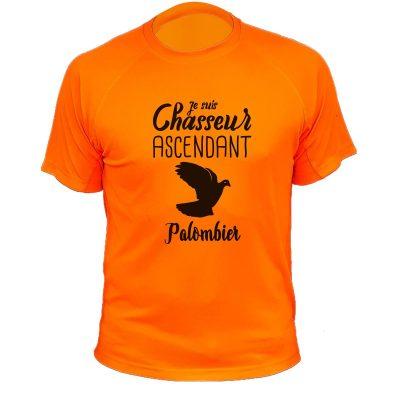 tee-shirt-palombe-orange-fluo