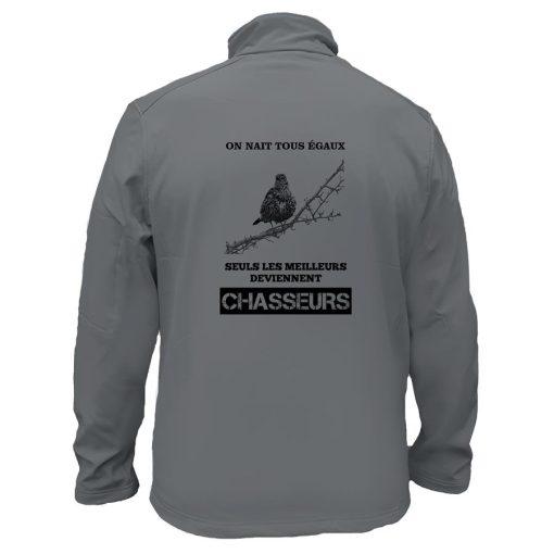 veste de chasse grive grise on nait tous egaux