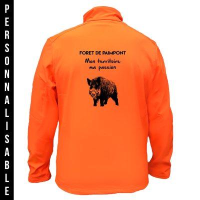 veste-chasse-orange-personnaliee-sanglier