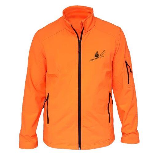 veste de chasse grive orange fluo