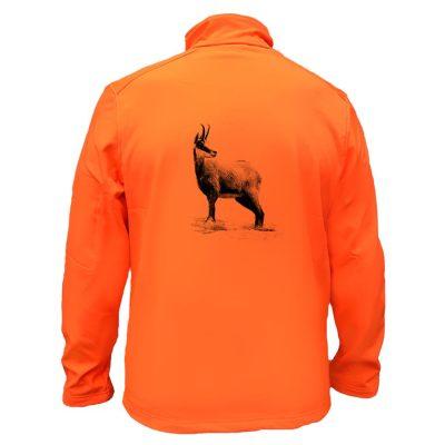 veste de chasse orange chamois