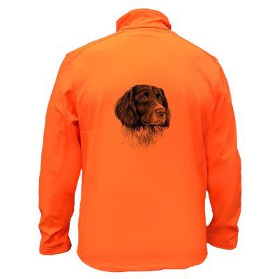 veste-chasse-orange-fluo-chien-arret-springer-spaniel