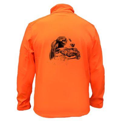 veste-chasse-orange-setter-becasse