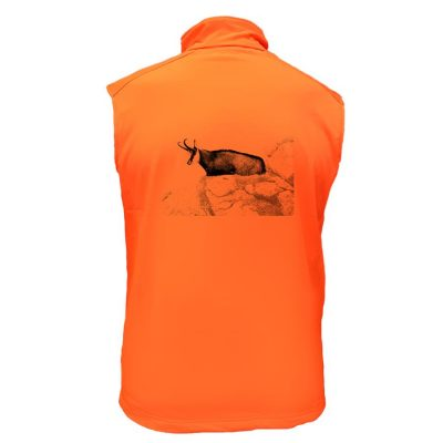 gilet de chasse orange chamois