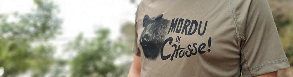 tee shirt chasse sanglier